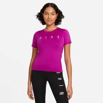 Nike Miler Run Division shirt Dames Roze