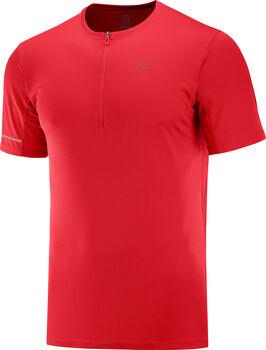 Salomon Agile Half Zip t-shirt Heren Rood