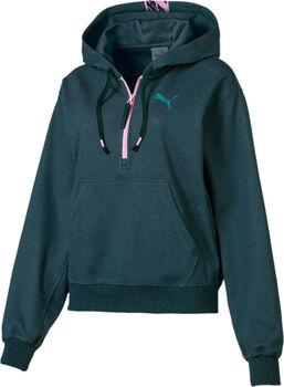 Puma Feel It hoodie Dames Groen