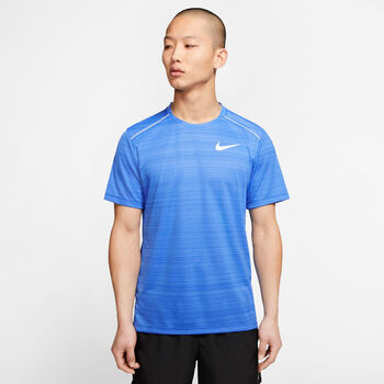 Nike Dri-FIT Miler shirt Heren Blauw
