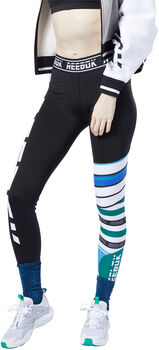 Reebok Meet You There Engineered Legging Dames Groen