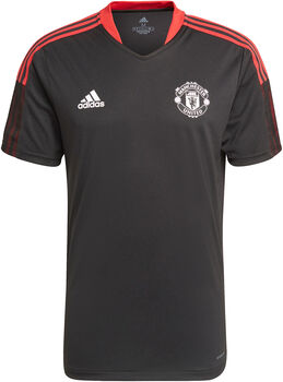 adidas Manchester United trainingsshirt 21/22 Heren Zwart