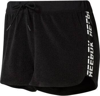 Reebok Meet You There Terry short Dames Zwart