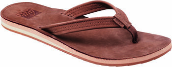 Reef Voyage Lite Leather slippers Dames Bruin