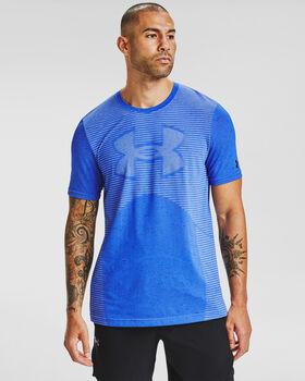Under Armour Seamless Logo SS t-shirt Heren Blauw