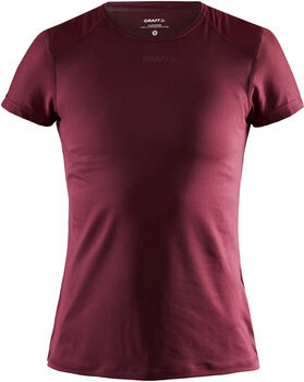 Craft ADV Essence SS Slim Tee W shirt Dames Rood