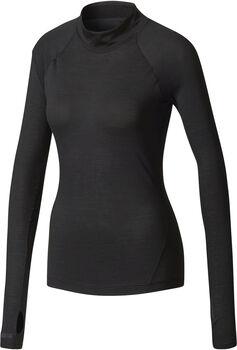 Adidas Climaheat Turtleneck shirt Dames Zwart