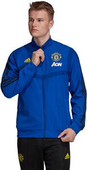 adidas Manchester FC Presentatie jack Heren Blauw