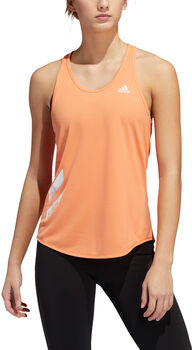 adidas Run It 3-Stripes top Dames Oranje