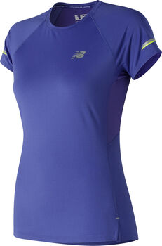 New Balance Ice 2.0 Short Sleeve shirt Dames Blauw