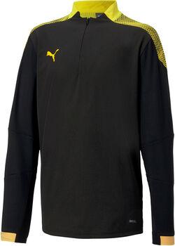 Puma FTBLNXT 1/4 Zip longsleeve kids shirt Jongens Zwart