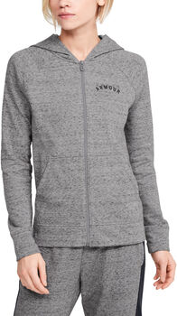 Under Armour Rival Terry Full Zip jack Dames Grijs