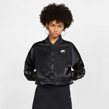 Nike Sportswear Air Satin trainingsjack Dames Zwart