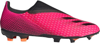 adidas X Ghosted.3 Laceless Firm Ground voetbalschoenen Heren Rood