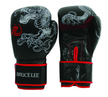 BRUCELEE bruce lee dragon boxing gloves 12oz Heren Rood