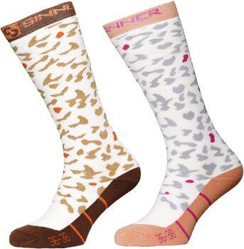 Sinner Leopard 2-pack sokken Dames Bruin