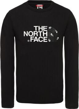 The North Face Easy longsleeve Jongens Zwart
