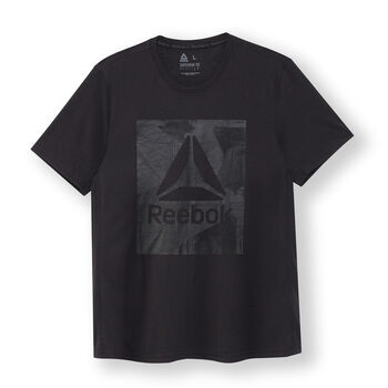 Reebok Workout Ready Supremium Graphic shirt Heren Zwart