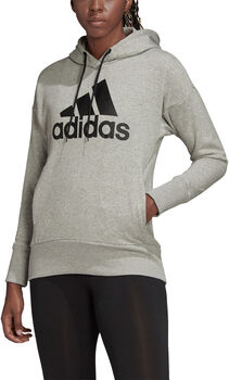 ADIDAS Badge of Sport Long Hoodie Dames Grijs