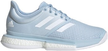 adidas Sole Court Boost x Parley tennisschoenen Dames Blauw