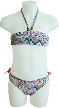 Manouxx Zigzag Paisley Bandeau jr bikini Meisjes Roze
