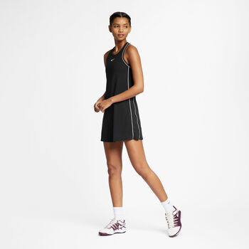 Nike Court Dry jurk Dames Zwart