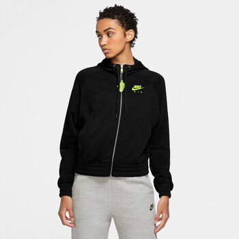 Nike Full-Zip Fleece Air hoodie Dames Zwart