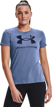 Under Armour Live Sportstyle Graphic shirt Dames Blauw