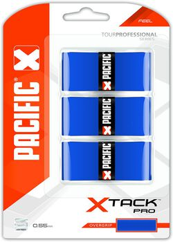 Pacific X Tack Pro 0.55mm tennis overgrip Blauw