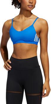 adidas All Me 3-Stripes sport bh Dames Blauw