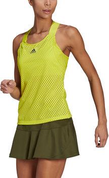 adidas HEAT.RDY Primeblue Tennis Y-Tanktop Dames Geel