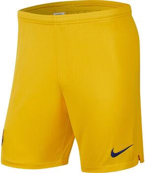 Nike FC Barcelona uit/thuis short 2019-2020 Heren Geel