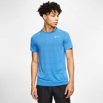 Nike TechKnit Ultra Hardloopshirt korte mouw Heren Blauw