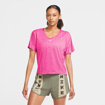 Nike Icon Clash City Sleek top Dames Roze
