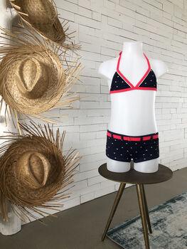 Bomain Shorty Structure Stripe girls bikini Meisjes Blauw