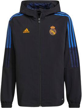 adidas Real Madrid Tiro kids presentatiejas 21/22 Jongens Zwart