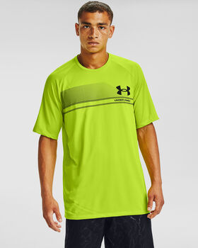 Under Armour Logo Wordmark Tech t-shirt Heren Groen