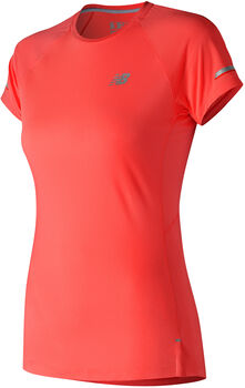 New Balance Ice 2.0 Short Sleeve shirt Dames Oranje