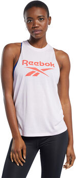 Reebok Workout Ready Supremium Big Logo top Dames Roze
