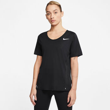 Nike City Sleek shirt Dames Zwart