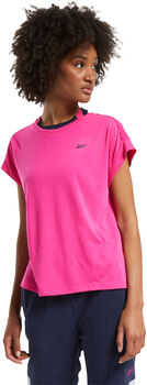 Reebok Workout Ready Supremium Detail t-shirt Dames Roze