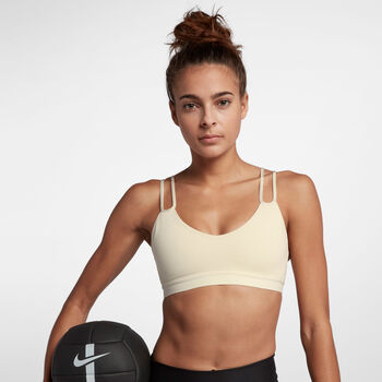 Nike Indy Sparkle sportbeha Dames Bruin