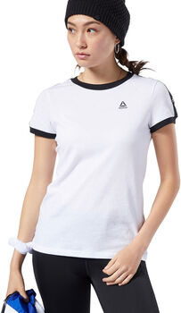 Reebok Training Essentials Linear Logo T-shirt Dames Wit