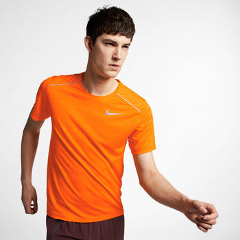 Nike Dri-FIT Miler shirt Heren Oranje