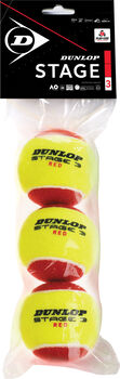Dunlop Stage 3 Red 3 tennisballen Rood