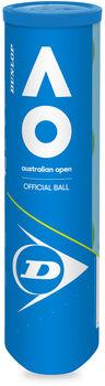 Dunlop Australian Open 4 Tennisballen tin Geel