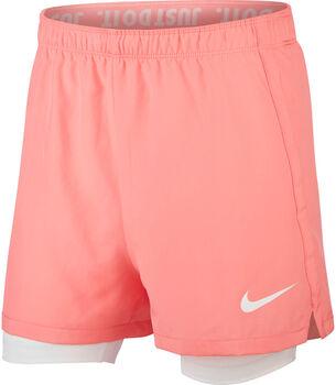 Nike Dry 2-in-1 short Meisjes Rood