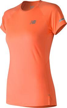 New Balance Ice 2.0 Short Sleeve shirt Dames Oranje