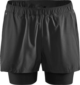 Craft ADV Essence 2-in-1 Stretch Short Heren Zwart