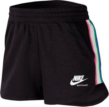 Nike Sportswear Heritage Fleece short Dames Zwart